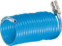 Шланг спиральный полиуретановый 6,0 Х 8,0 мм, длина  5 м с фитингами (упак. 1/40)
