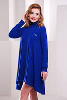 Теплое стильное  платье  Beatrice электрик   FashionUp 42-50 размеры