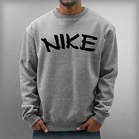 Свитшот Nike серый  двунитка