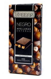 Шоколад Torras черный с цельным фундуком Испания 200г, фото 2