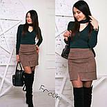 Женская модная замшевая юбка с размером (2 цвета), фото 2