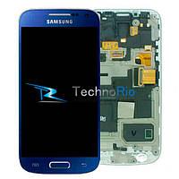 Модуль Дисплей Samsung i9190 Galaxy S4 mini/i9192/i9195 с тачскрином и рамкой, синий (оригинал)