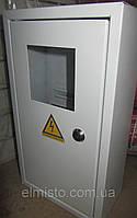 Щит ШМР-1ф-16А-В распределительный металлический для 1ф. индукционного счетчика и 16 авт. выключателей врезной