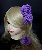 Цветок роза для причесок диаметр 8 см