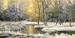 Светящиеся картина Startonight Река Лес Природа Пейзаж Снег Печать на Холсте Декор стен Дизайн дома Интерьер