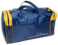 Патриотичная дорожная сумка 38 л. Wallaby 340-2 синяя с желтым