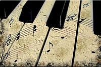 Светящиеся картина Startonight Винтажное Пианино Абстракция Печать на Холсте Декор стен Дизайн дома Интерьер, фото 1