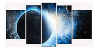 Модульная Картина Startonight Космос 5 частей Звезды Планеты Печать на Холсте Декор стен Дизайн дома Интерьер