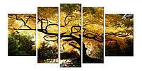 Модульные Картины Startonight Дерево Клен Природа 5 частей Печать на Холсте Декор стен Дизайн дома Интерьер
