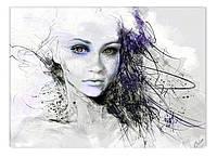 Светящиеся картины Startonight Девушка Абстракция Портрет Печать на Холсте Декор стен Дизайн дома Интерьер