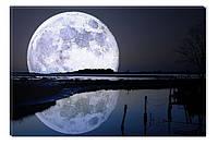 Светящиеся картина Startonight Полная Луна Пейзаж Черно Белые Печать на Холсте Декор стен Дизайн дома Интерьер