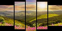 Модульные Картины Startonight Солнце Пейзаж Природа 5 частей Печать на Холсте Декор стен Дизайн дома Интерьер
