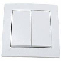 Выключатель Smartfortec HS021 двойной скрытого типа белый