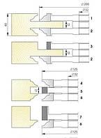 Комплект фрез для изготовления  арочных дверей с остеклением  В-014  (7фр.)