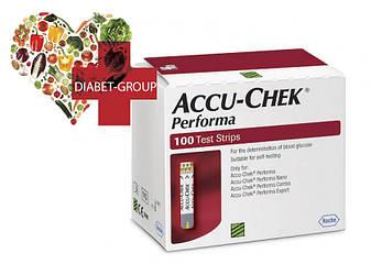 Тест-полоски Акку-Чек Перформа (Accu-Chek Performa) 100 шт., фото 2