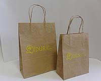 Крафт пакеты с коричневый с ручкой., фото 1