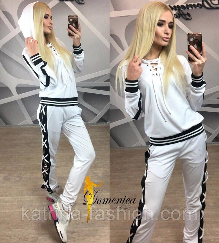Женский красивый спортивный костюм со шнуровкой (2 цвета)  продажа ... 634c98cba75