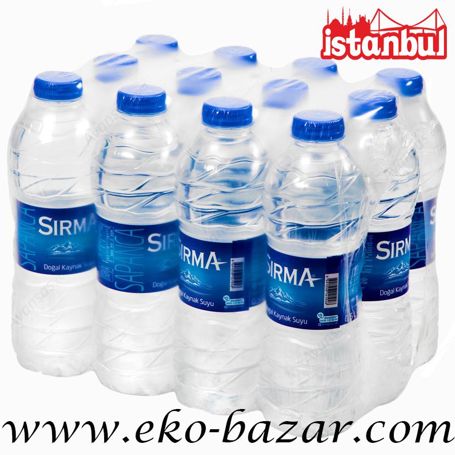 Вода негазированная родниковая 500 мл (Kaynak SU) ТМ SIRMA