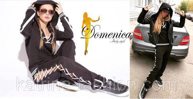 Женский красивый спортивный костюм со шнуровкой (2 цвета), цена 760 ... 0c506921cc1