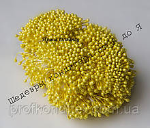 Тичинки дрібні Жовті 2мм, довжина 7см, 100шт
