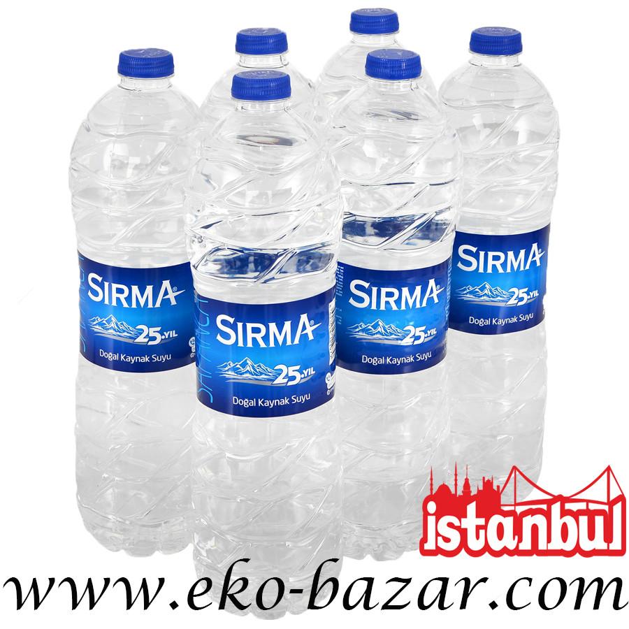 Вода негазированная родниковая 1500 мл (Kaynak SU) ТМ SIRMA