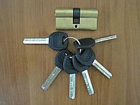 Цилиндр дверной Gelaris 30*30 ключ-ключ золото