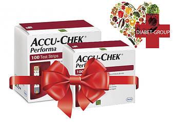 Тест-полоски Акку-Чек Перформа (Accu-Chek Performa) 100 шт. 2 упаковки, фото 2