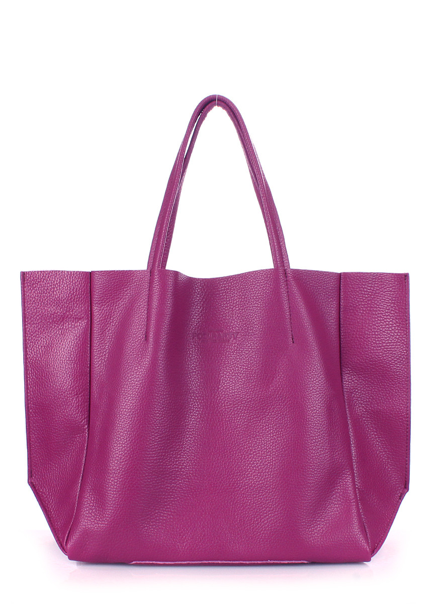 Кожаная женская сумка POOLPARTY Soho фуксия