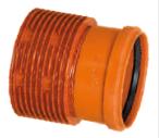 Переход с гофрированных канализационных труб InCor на трубы гладкие ПВХ (InCor х ПВХ раструб 300мм х 315мм)