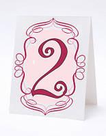 Номерок под номерки на свадебный стол в фиолетово-белых тонах