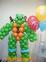 Черепашка Ніндзя з гелієвими кульками 5шт.