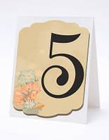 Номерок под номерки на свадебный стол в нежных молочных тонах