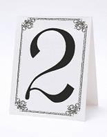 Номерок под номерки на свадебный стол в серо-белых тонах