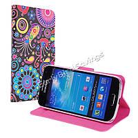 Чехол книжка для Samsung Galaxy S4 Mini i9190, QG637