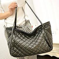 c7d714280e19 Большая стеганая дутая сумка для стильной девушки. Отличное качество.  Доступная цена. Код: