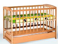 Кроватка детская с ящиком (1200*600) (бук)
