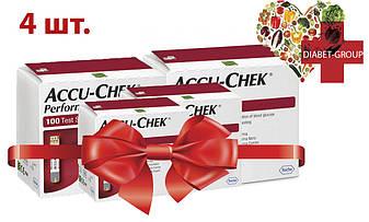 Тест-полоски Акку-Чек Перформа (Accu-Chek Performa) 100 шт. 4 упаковки, фото 2