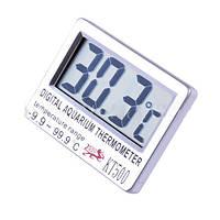 Наружный термометр для аквариума KT 500, ЖК дисплей, питание от батарейки, 76х60х13 мм, 60 г