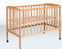 Кроватка детская на колесах (1200*600) (бук)