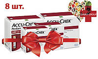 Тест-полоски Акку-Чек Перформа (Accu-Chek Performa) 100 шт. 8 упаковок