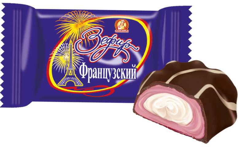 "Конфеты Славянка ""Жаклин"" Французский зефир"