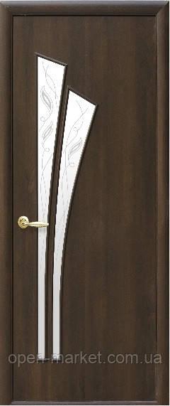 Модель Лилия ПВХ стекло Р межкомнатные двери, Николаев