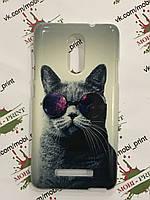 Чехол для Xiaomi Redmi Note 3 (Кот в очках)