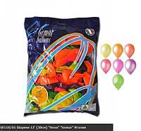 """Воздушные шарики ассорти НЕОН 12"""" (30 см) латексные круглые шарики"""