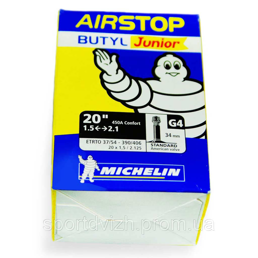 michelin Камера Michelin G4 AIRSTOP, MTB 20 (37/54X390/406) ST 819653