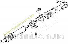 Кардан Ford Тransit  92 --  Т 15  дл. база с трех частей  2 подвесных  TIRSAN