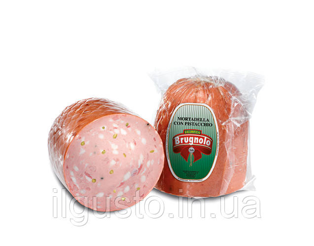 BRUGNOLO Mortadella  con pistacchio- Колбаса мортаделла с фисташками, 1 kg - Balzano-food в Ужгороде