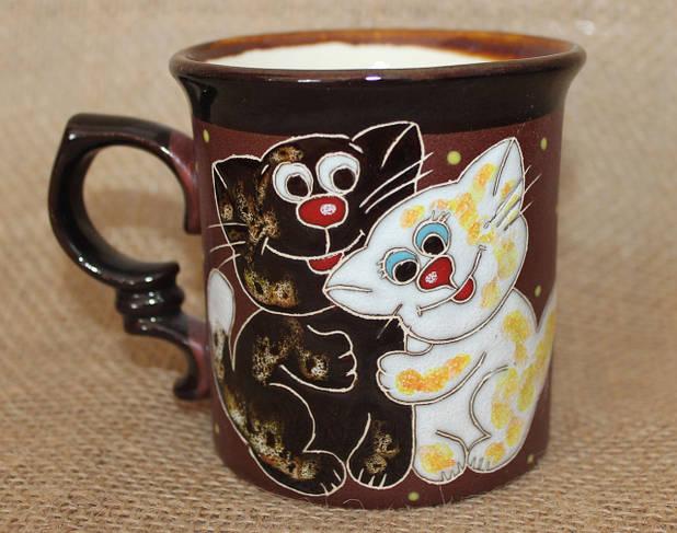 Чашка керамическая «Котята»