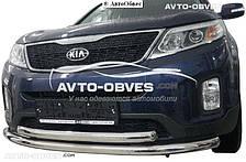 Защита переднего бампера для Киа Соренто 2013-...