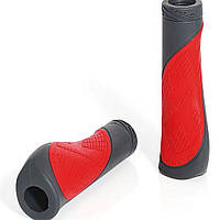 Грипсы XLC GR-S17 'Comfort bo', красно-серые, 135мм